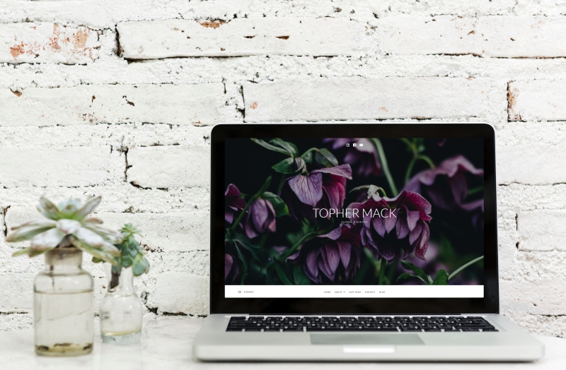 Website Mock Up by Atlanta Branding & Social Media Agency, BoVason Group- Topher Mack Floral & Events Atlanta