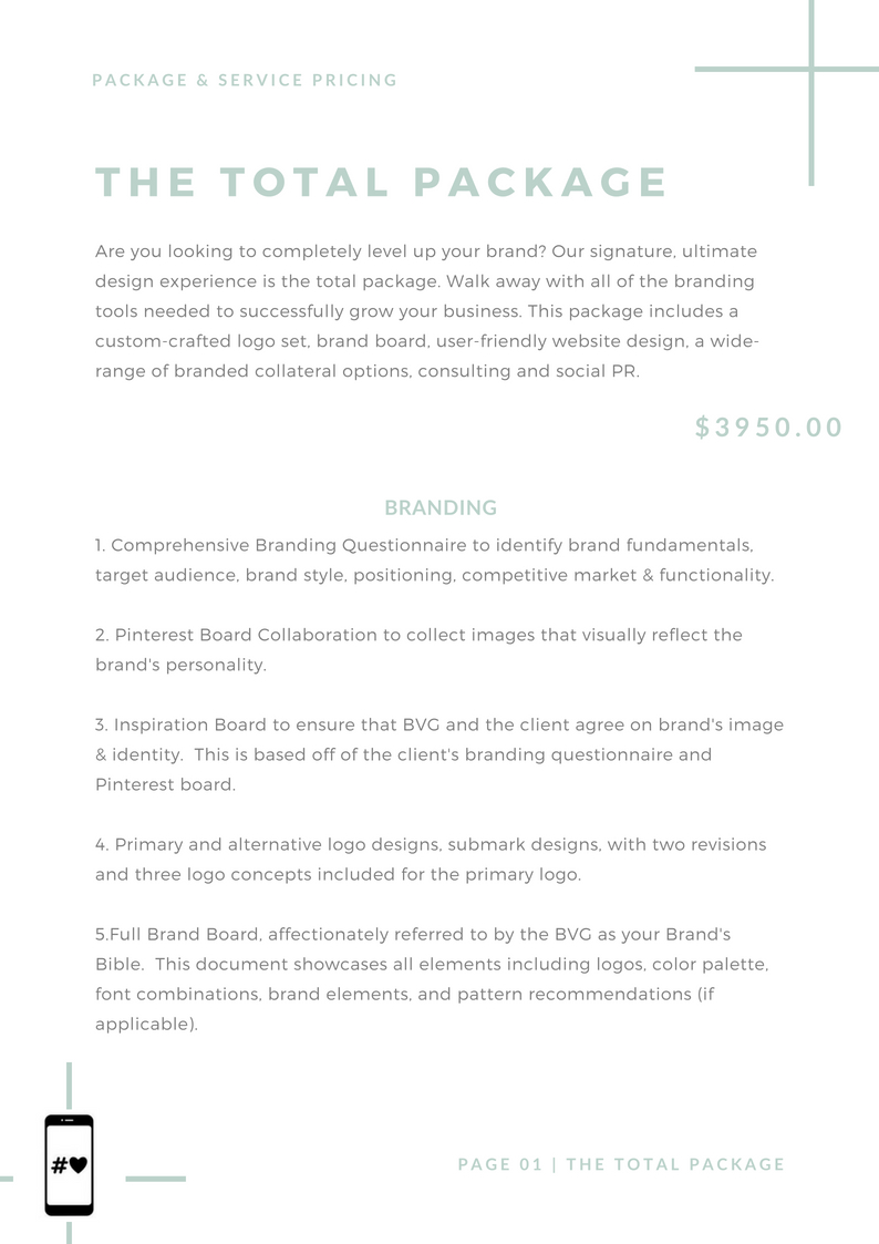 BoVason Group- Branding, Website, & Social Media Pricing