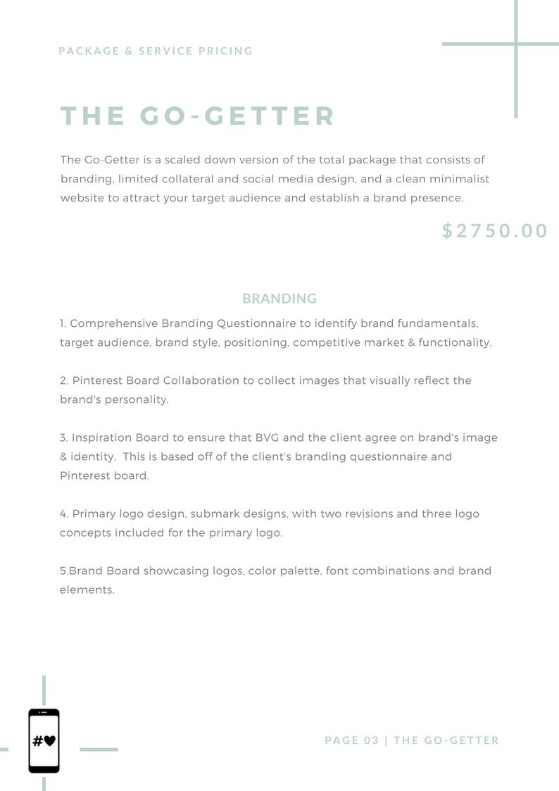 BoVason Group- Branding, Website, & Social Media Pricing